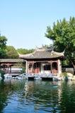 The lake waterside pavilion royalty free stock image