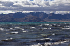 Lake with waves Royalty Free Stock Image