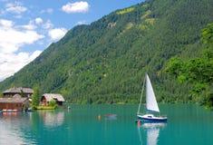 Lake Weissensee,Carinthia,Austria Royalty Free Stock Photography