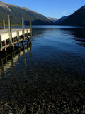 Lake wharf. New Zealand. Nelson lakes. themes as nature, holidays, relax, tranquil Stock Images