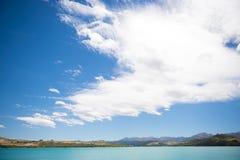Lake whit blue sky. Stock Photos