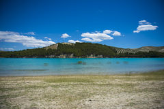 Lake whit blue sky. Royalty Free Stock Photo