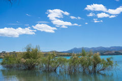 Lake whit blue sky. Stock Photos