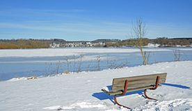 Lake Wiesensee near Hachenburg,Westerwald,Germany Stock Image
