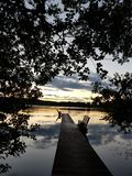 Lake wiew. Late summer wiew at the pier and the lake Stock Photography
