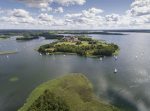 Lake Wigry National Park. Suwalszczyzna, Poland. Blue water and Royalty Free Stock Images