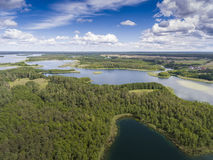 Lake Wigry National Park. Suwalszczyzna, Poland. Blue water and Royalty Free Stock Photography
