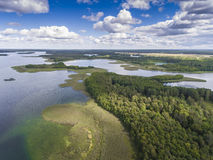 Lake Wigry National Park. Suwalszczyzna, Poland. Blue water and Royalty Free Stock Photo