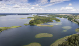 Lake Wigry National Park. Suwalszczyzna, Poland. Blue water and Stock Image