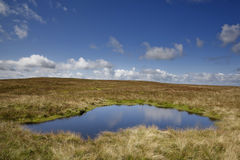 Lake on Wild Boar Fell Royalty Free Stock Photos