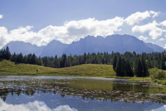 Lake Wildensee near  Mittenwald Stock Photo