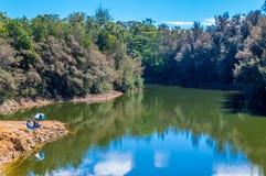 Lake Wilson 2, Wahiawa. Located in Wahiawa, Hawaii, excellent fresh water bass fishing Royalty Free Stock Photo