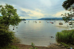 Lake Windermere. View onto Lake Windermere from Ambleside in the UK Royalty Free Stock Image