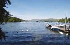 Lake windermere. Boats on Lake windermere Stock Images