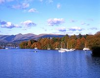 Lake Windermere during the Autumn. Stock Image