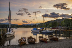 Lake Windermere at Dusk Stock Images