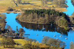 Lake Windermere from Gummers How Stock Image
