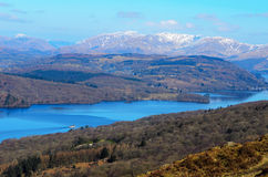 Lake Windermere from Gummers How Royalty Free Stock Photography