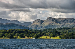 Lake Windermere and the Langdales Royalty Free Stock Photo