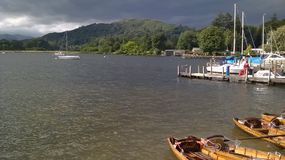 Lake Windermere under ominous clouds Stock Photography