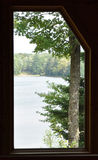 Lake in Window Stock Image