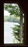 Lake in Window stock image
