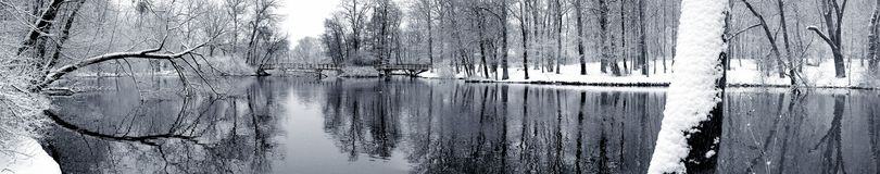 Lake in winter stock photos
