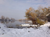 Lake in winter Stock Photography