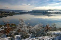 Pchelina dam in winter Stock Photo