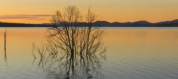 Lake Wivenhoe in Queensland during the day. Apart of Wivenhoe Dam Royalty Free Stock Photo