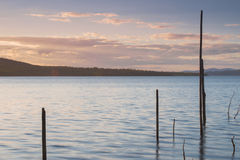 Lake Wivenhoe in Queensland during the day stock images