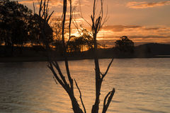 Lake Wivenhoe in Queensland during the day stock photos