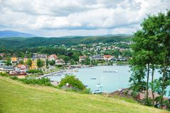 Lake Woertheree Austria, Carinthia. Lake Woerthersee and Villach in Austria, Carinthia Royalty Free Stock Image