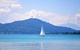 Lake Woerthersee in Carinthia, Austria Stock Photos