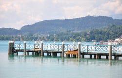 Lake Woerthersee in Carinthia, Austria Stock Image