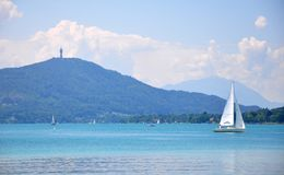 Lake Woerthersee in Carinthia, Austria Royalty Free Stock Image