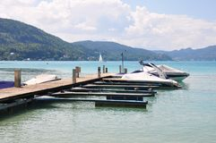 Lake Woerthersee in Carinthia, Austria Royalty Free Stock Images