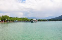 Lake Woerthersee in Carinthia, Austria Stock Photography