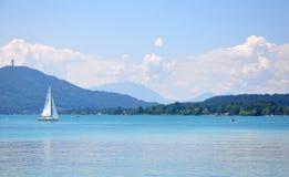 Lake Woerthersee in Carinthia, Austria Royalty Free Stock Photo