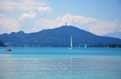 Lake Woerthersee in Carinthia, Austria Stock Images