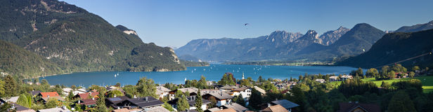 Lake Wolfgang as seen from Sankt Gilgen Royalty Free Stock Images