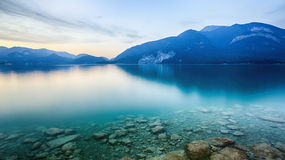 Lake Wolfgangsee in Austria Royalty Free Stock Photos