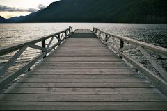 Lake Wood Dock Stock Photography