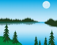 Lake in wood Royalty Free Stock Images