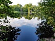 Lake Wood. Uckfield through the trees Royalty Free Stock Photo