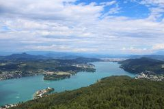 Lake Worth, in Austria. Lake Worth is a lake in the southern Austrian state of Carinthia Stock Image