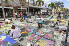 Lake Worth, Florida, USA Fab 23-24, 2019 25Th Annual Street Painting Fest royalty free stock photography