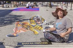 Lake Worth, Florida, USA Fab 23-24, 2019 25Th Annual Street Painting Fest royalty free stock images