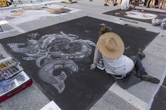 Lake Worth, Florida, USA Fab 23-24, 2019 25Th Annual Street Painting Festival royalty free stock photography