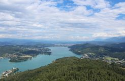Lake Worth. Is a lake in the southern Austrian state of Carinthia Stock Image